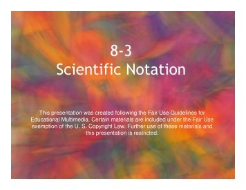 8-3 Scientific Notation - Mona Shores Blogs