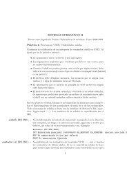 SISTEMAS OPERATIVOS II Tercer curso Ingenierıa Técnica ...