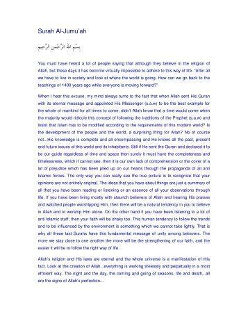 Surah Al-Jumu'ah - Farhat Hashmi
