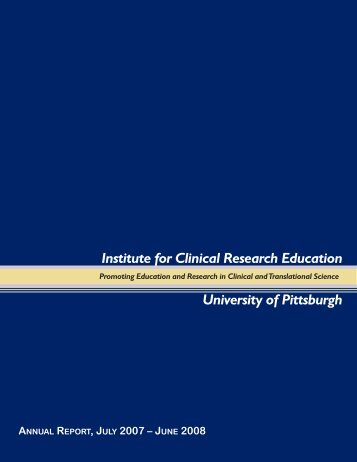 Program - Institute for Clinical Research Education - University of ...