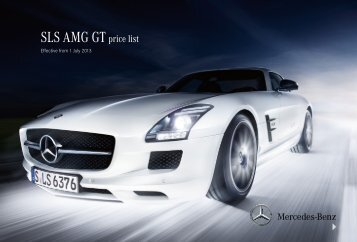 SLS AMG GT price list - Mercedes-Benz