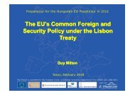 The EU's Common Foreign and Security Policy under the Lisbon ...
