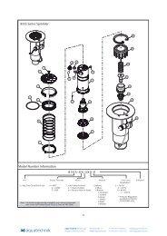 855S Series Sprinkler 835S-XX-3XX-E Model ... - Aqua Technik