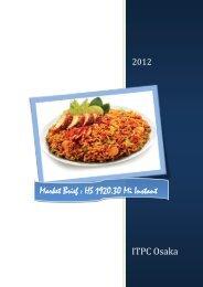 Market Brief : HS 1920.30 Mi Instant - ITPC Osaka