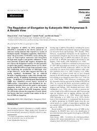 The Regulation of Elongation by Eukaryotic RNA ... - Cms.daegu.ac.kr