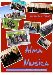 B. Présentation du chœur - Ensemble Vocal Alma Musica de Paris