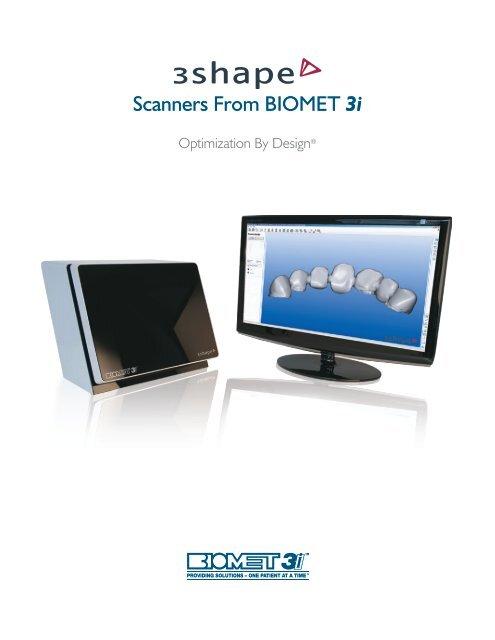 """3Shape â""""¢ Dental System Brochure - Biomet 3i"""