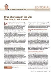 Drug shortages in the US: The time to act is now! - American ...
