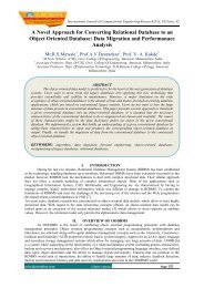 A Novel Approach for Converting Relational Database to an ... - ijcer