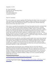 Letter to Fifth Third - Americans for Financial Reform
