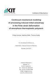 Continuum mechanical modeling of processing induced initial ...
