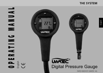 Digital Pressure Gauge manual - Scubapro