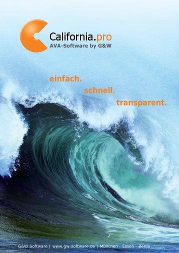 Kurzbeschreibung California.pro als pdf - G&W Software ...