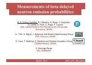 Measurements of beta delayed neutron emission probabilities - Cenbg