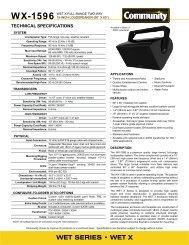 WET SERIES • WET X - Community Professional Loudspeakers