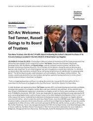 6.29.2011 - SCI-Arc Welcomes New Trustees Ted Tanner, Russell ...