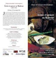 Consulter le programme - CRHQ - CNRS