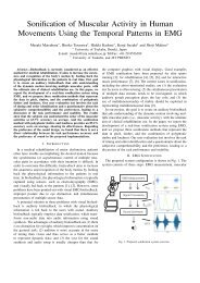 Sonification of Muscular Activity in Human Movements Using the ...