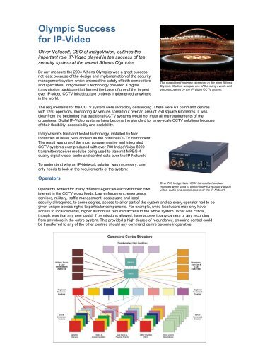 Olympic Success for IP-Video - IP UserGroup