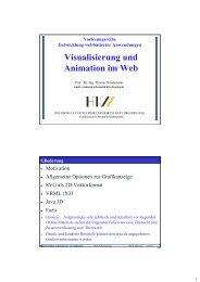 Visualisierung und Animation im Web - Hochschule für Technik und ...