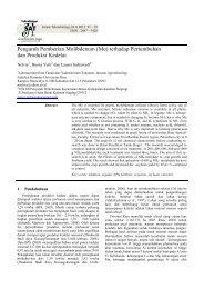 Pengaruh Pemberian Molibdenum (Mo) - perpustakaan universitas ...