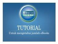 Tutorial Untuk Mengetahui Jumlah Ebook