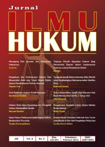 ilmu hukum - perpustakaan universitas riau
