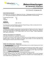 Nr. 36 / Woche 39 / 28. September 2012 - Gemeinde Villnachern