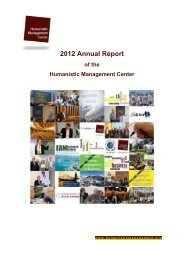 2012 Annual Report - Humanistic Management Center