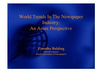 An Asian Perspective - World Association of Newspapers