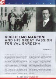 guglielmo marconi and his great passion for val gardena