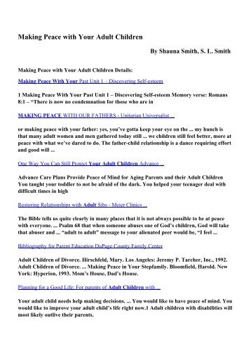 Download Making Peace with Your Adult Children pdf ebooks by ...
