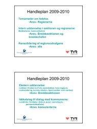 Handleplan 2009-2010 Handleplan 2009-2010