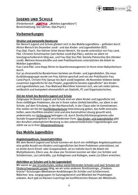 Jugend und Schule - Deutscher Kinderschutzbund Landau