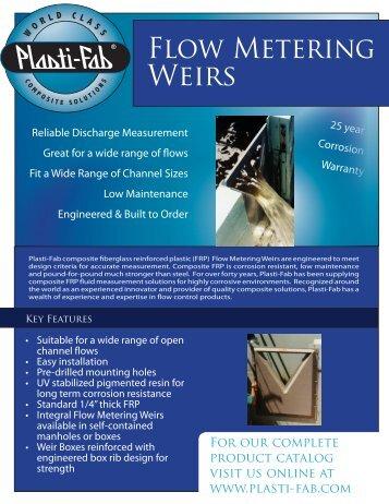 MW-3.01.10 - Flow Metering Weirs.pdf - Plasti-Fab, Inc.
