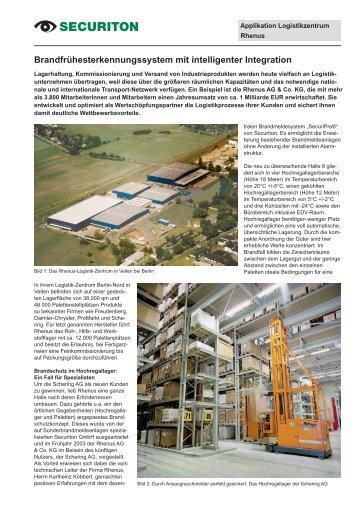 Anwendung Rhenus Logistik - Securiton GmbH