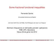 Some fractional functional inequalities - UPC