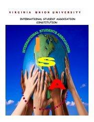 International Studies Association Constitution - Virginia Union ...