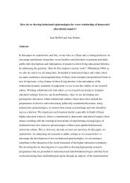 How do we develop inclusional epistemologies for a new ...