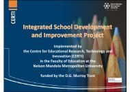 Integrated School Development and Improvement Project - Action ...