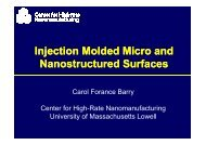 Injection Molded Micro and Nanostructured Surfaces