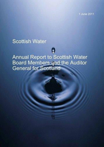 Scottish Water Annual Report to Scottish Water ... - Audit Scotland