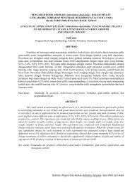Sudirman: Pengaruh Dosis Aplikasi Arthrobotrys dactyloides dalam ...