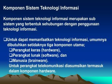 Komponen Sistem Teknologi Informasi