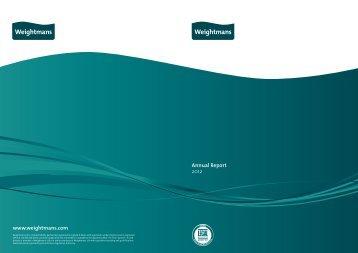 Annual Report 2012 www.weightmans.com - Weightmans Solicitors