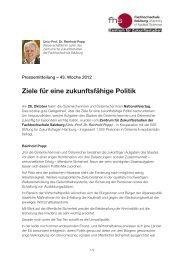 Ziele für eine zukunftsfähige Politik - Fachhochschule Salzburg