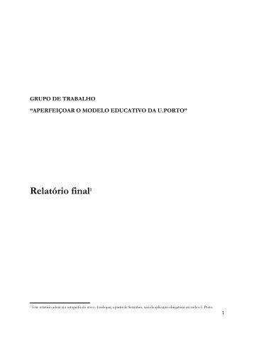 Relatório - Grupo de Trabalho - Federação Académica do Porto