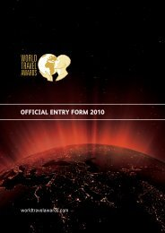 official entry form 2010 - World Travel Awards