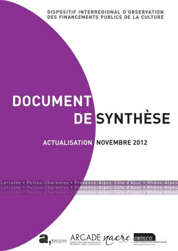 DOCUMENT SYNTHÈSE DE - La NACRe