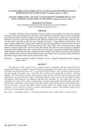 Crop Agro Vol.3 No.1 – Januari 2010 ANALISIS KORELASI DAN ...